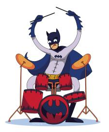 Принт на футболку Бетмен