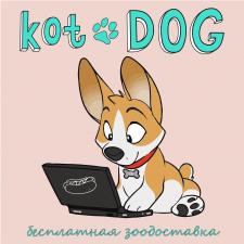 Стикер для сервиса зоодоставки KotDOG