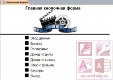 База данных Access Кинотеатр