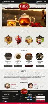 Макет сайта чайной продукции