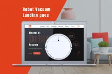 Robot Vacuum landing page