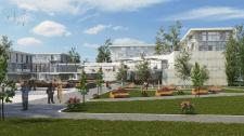 Фрагмент проекту кварталу для людей похилого віку