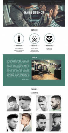 Web - site about BARBERSHOP