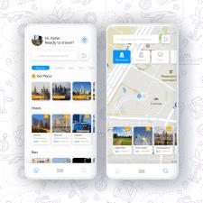 Дизайн приложения для туристов