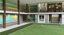 Дизайн футбольного зала в фитнес-центре