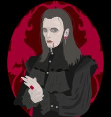 Стилизованный портрет-иллюстрация в векторе