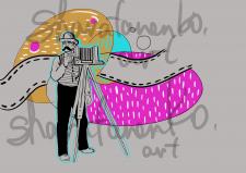 иллюстрация в интерьер