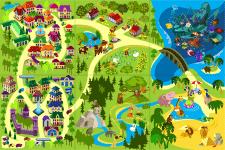 Коврик детский карта Вектор