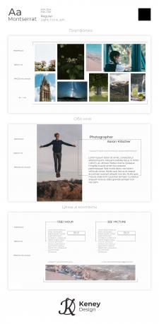 Photographer site portfolio design