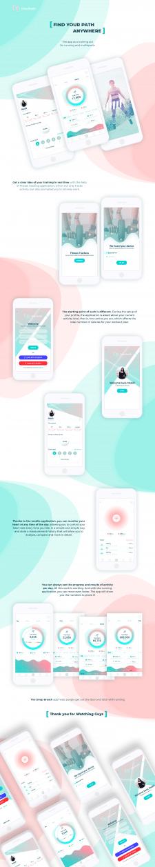 "UI/UX for Fitness-tracker mobile app: ""Deep Breath"