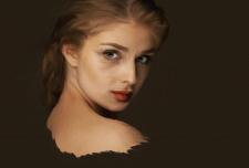 Нарисованный портрет девушки