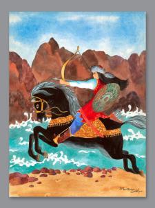 Иллюстрация к легенде «Катунь»