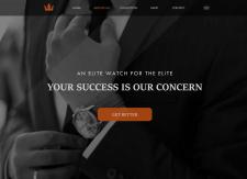 """""""Время-будущее"""" Дизайн сайта для покупки часов"""