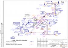 Аксонометрия водоснабжения коттеджа