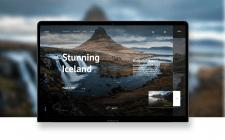 Дизайн сайта. Stunning Iceland