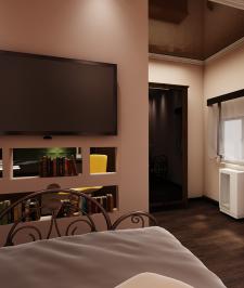 Дизайн спальни вид 7