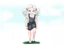 Девочка. Мульт персонаж, аниме.