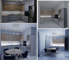 визуализация кухни по фото