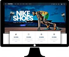 Страница интернет-магазина спортивных товаров