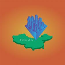 3д город Китай Бечинг
