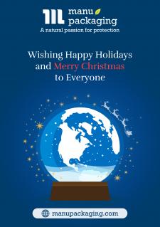 Варіант новорічної листівки для групи компаній