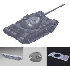 Т-55 в сборе (48 деталей)