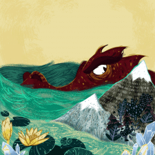 Иллюстрация к книге 'Dragon who became Pavarotti'