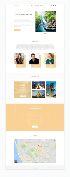 "Landing page ""Thailand"""