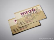 Дизайн визитной карточки Grill