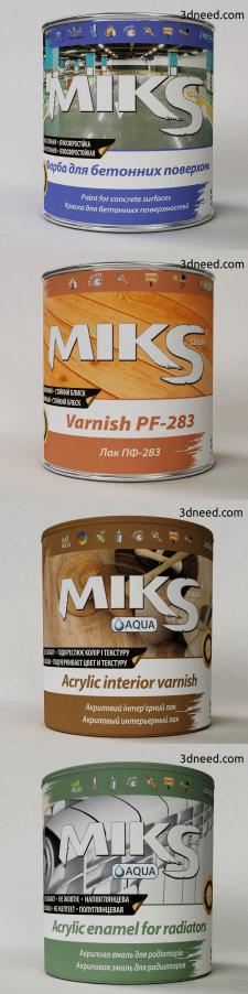 3d моделирование и визуализация банок для краски