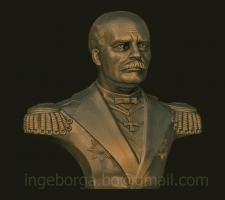 Бюст адмирала Г.И.Невельского под 3д-печать