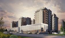 Визуализация строящегося жилого комплекса