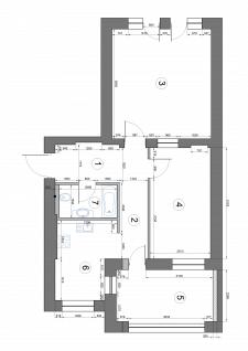 Проектировка квартиры без мебели