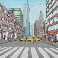 Улица нью Йорка для комикса