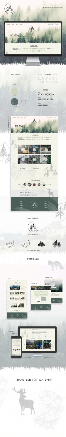 Дизайн сайта для туристической фирмы , Дизайн лого