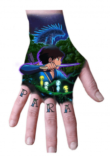 Эскиз цветной Татуировки под заказ