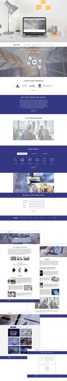 Новый дизайн сайта для titan-seo.com