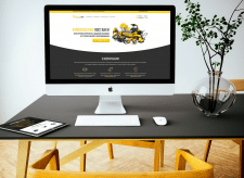 Power Tools Company Landing Page