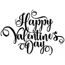 Леттеринг Happy Valentines Day
