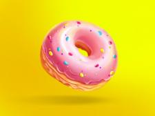 Иллюстрация пончик