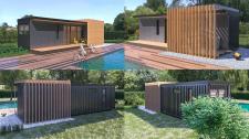Дизайн и визуализация экстерьера дома у бассейна