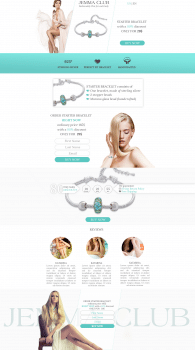 Landing page Jewelry