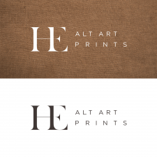 разработка логотипа для компании HE Alt Art Prints