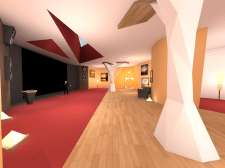 Low poly комната кинотеатр