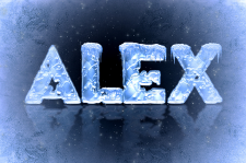 Текст изо льда и снега
