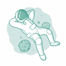 Стикер для телеграма на тему- космос
