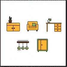 Иконки мебели для каталога сайта