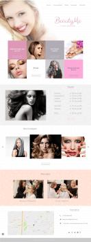 "Дизайн landing page для салона ""BeautyMe"""