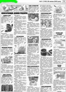 Кулінарна сторінка для газети