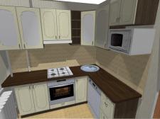 """Кухня в """"хрущевке"""". Проектирование и изготовление"""